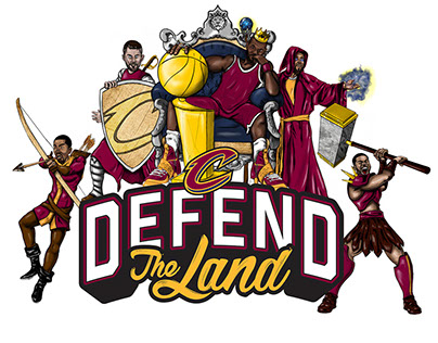 Cleveland Cavs 2016-17 Defend The Land Illustrations