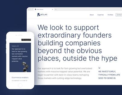 Atlas Ventures website design