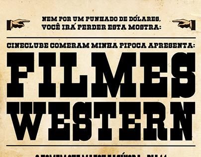 "Cartaz Mostra Western Cineclube ""CMP"""