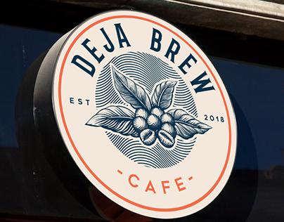 "Logo design for "" Deja Brew Cafe"""