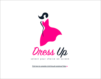 Dress up, online shopping app design