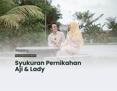 Syukuran Pernikahan Lady & Aji