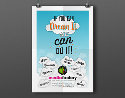 Media Factory Typography Poster