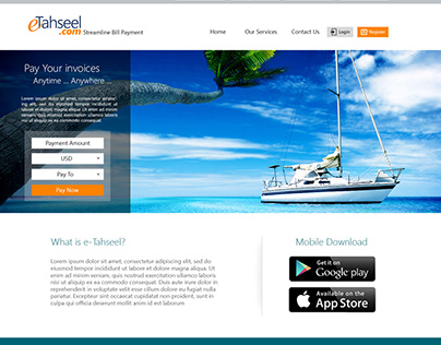 e-Tahseel Website