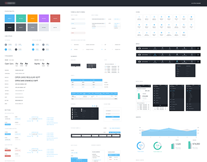Style Guide for E-commerce & Analytics Dashboard