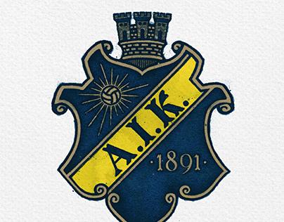 A little retro tweak of the AIK Fotboll badge
