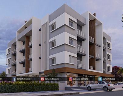 Modern Building Design   Residential Building Elevation