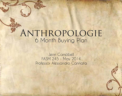Anthropologie 6-Month Buying Plan