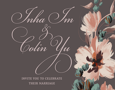 Wedding Invitation- Inha and Colin