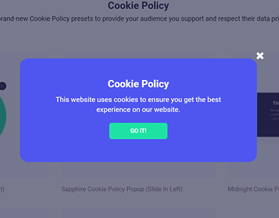Sapphire Cookie Policy Popup Form