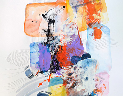 Original Watercolor Abstract Paintings
