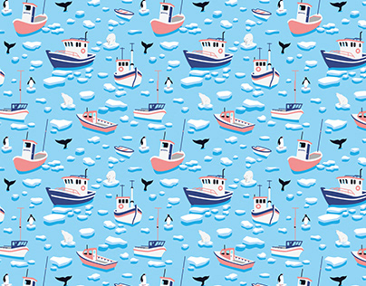 Arctic Boats - Pattern design