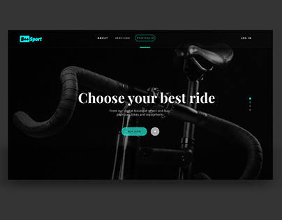 PRODUCT PAGE - BIKE UI CONCEPT