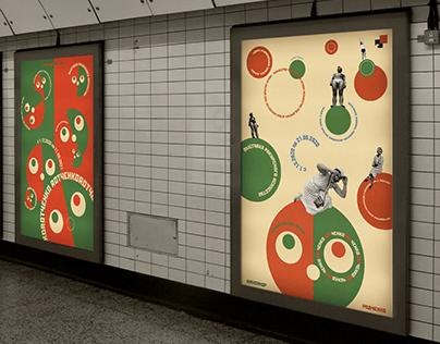 Серия плакатов для выставки ROTЧЕНКО