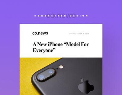 Newsletter Design co.news