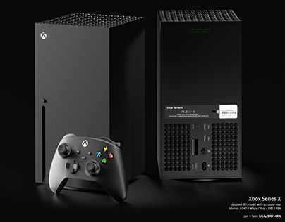 Xbox Series X accurate 3D model