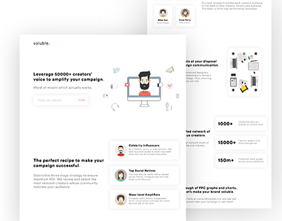 Voluble Landing Page | Influencer Marketing Agency