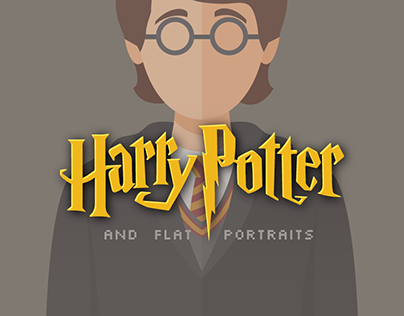 Harry Potter in Flat Style