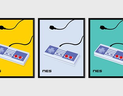NES Controller Prints