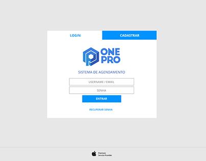 Sistema de Agendamento para Assistência Técnica Onepro.