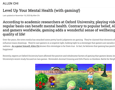 Level Up Your Mental Health (with gaming!)