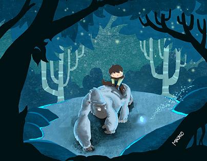 ilustración en iPad Pro