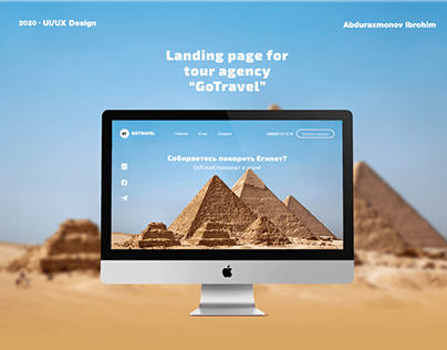 Ladnign page for Tour agency