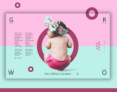 Hero Header - For Babies Website