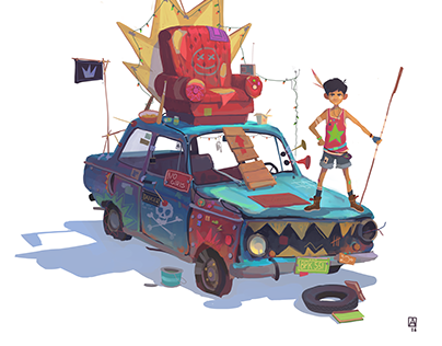 Car, time and boy
