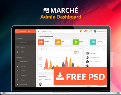 Marche UI Dashboard (Freebie)