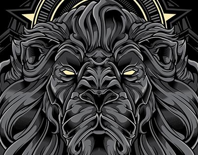 The King | Lion Vector Illustration