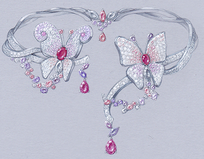 Van Cleef & Arpels style Butterfly Choker