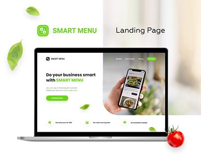 Smart Menu Landing Page