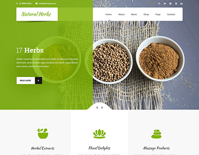 Free Natural Herbs WordPress Theme