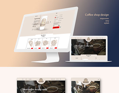 Coffee shop project. Responsive layouts.