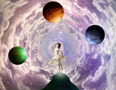 Cloud Planets Photo Manipulation