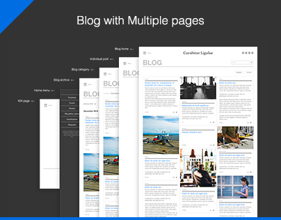 Blog with Mutliple pages