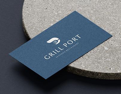 Grill Port | Logo design for a restaurant