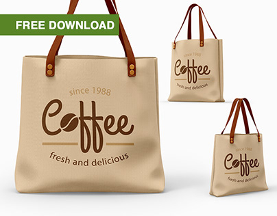 Free PSD-mockups | Canvas Bags