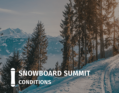 Snowboard Summit Conditions Website
