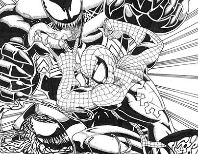 Spider-Man vs Venom and Carnage