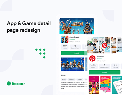 App & Game detail page redesign in Bazaar application