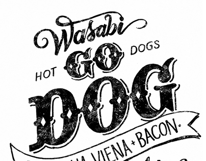 Lettering to snack bar Hot Dog - GO DOG