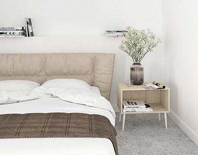 Comfortable bedroom - 3D visualization