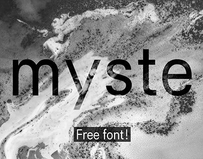 MYSTE — free font