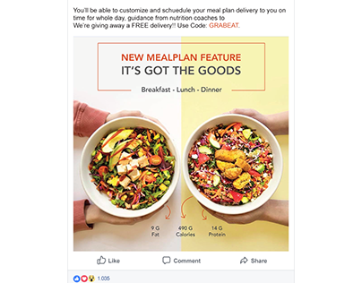 GrabEat | Email and Facebook Ad