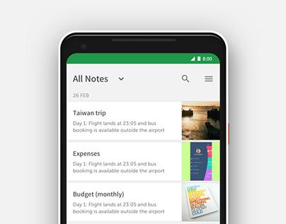 Evernote app redesign