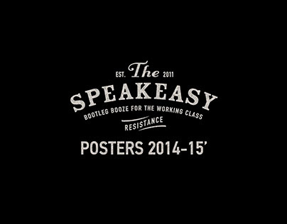 The Speakeasy bar - posters