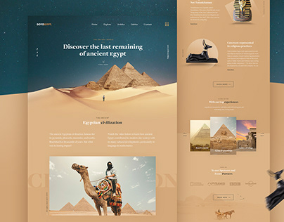 GOTOEGYPT - Travel Landing Page