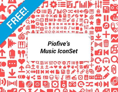Piofive's Free Music Icon Set